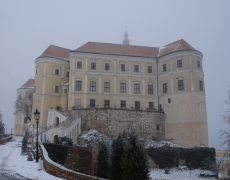 Mikulov castle in winter