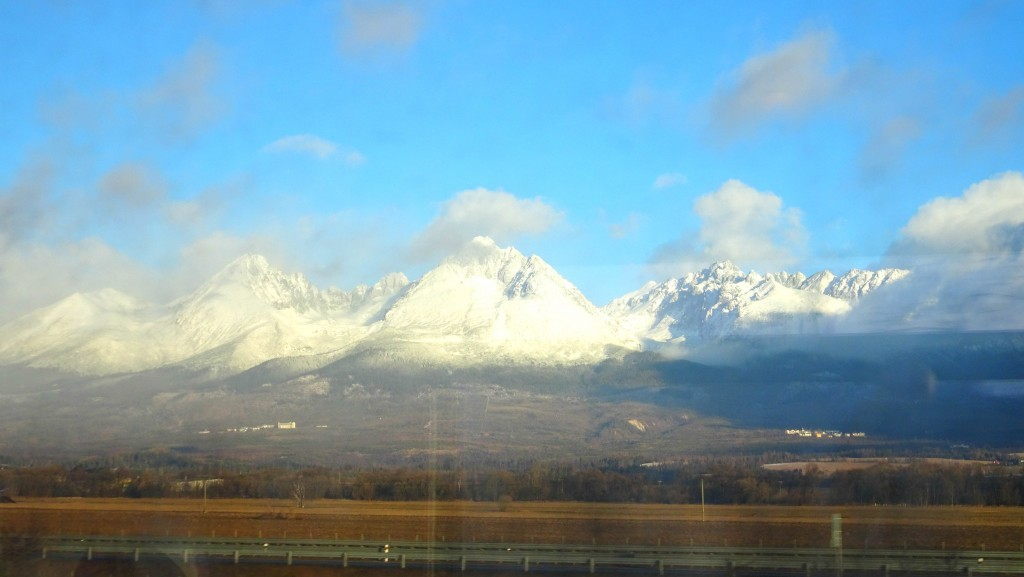 Last sight of the High Tatras